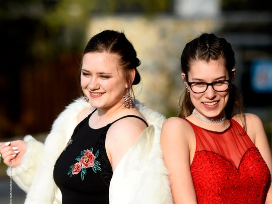 Abigail Osborn, right, and a friend at Northeastern Senior High School's prom at Friday, April 21, 2017, at Roundtop Mountain Resort in Warrington Township. Dawn J. Sagert photo