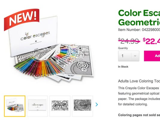 Crayola Joins Adult Coloring Book Craze
