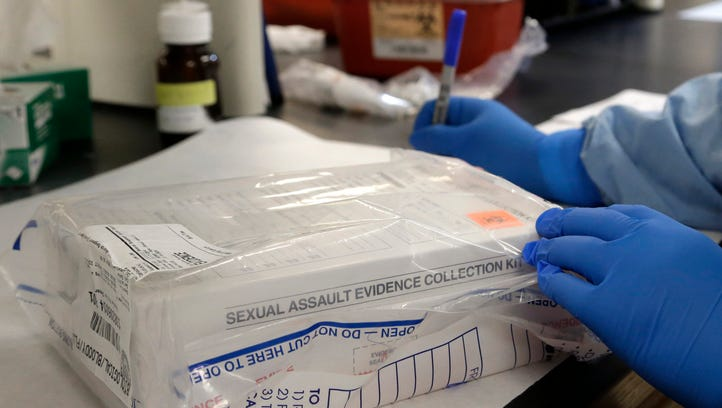 A sexual assault evidence kit is logged in a biology