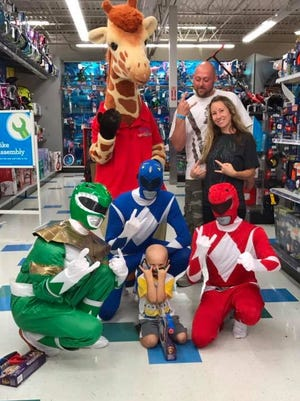 Grayson Dodd, 3, during a shopping trip at the Westland Toys R Us. His parents Kevin and April Dodd joined him.