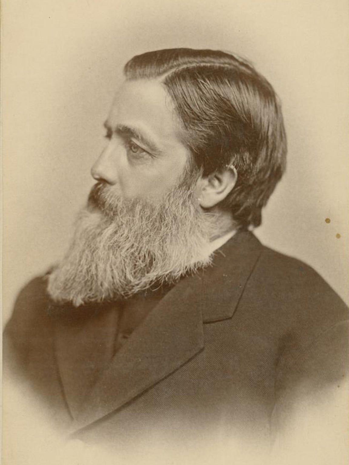 Willard Fiske, the first librarian at Cornell University,