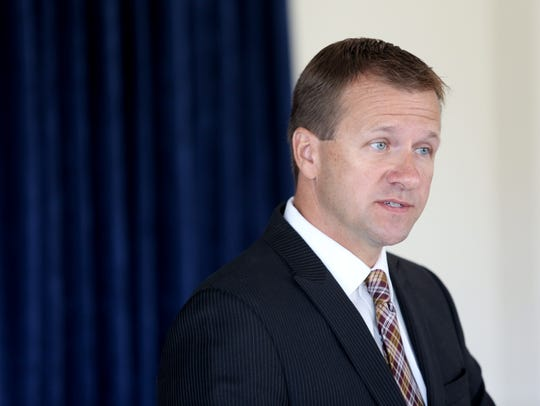 Warren County Prosecutor David P. Fornshell speaks