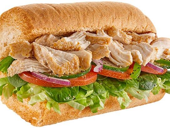 The rotisserie chicken sandwich from Subway.