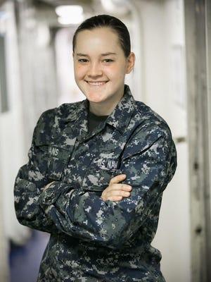 Dallas Center-Grimes High School graduate Hannah Evans is serving in Japan aboard one of two forward deployed dock landing ships, USS Germantown.