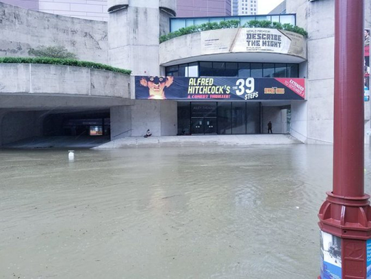Alley Theater in Houston had more than eight feet of