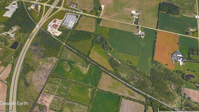 The village of Germantown will consider a tax increment financing plan for an industrial development up to 700,000 square feet near Interstate 41 and Holy Hill Road. What company is considering the project has not been made public.