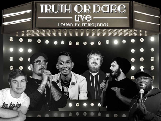 Experience a comedic take on a classic part game with Truth or Dave Live at Capitol City Theater.