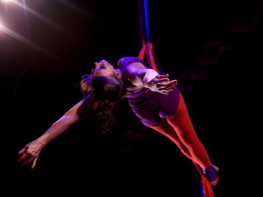 Aerial dancer Summer Davies will be among the performers Sept. 6 for Zion Matrix at the O.C. Tanner Amphitheater in Springdale.