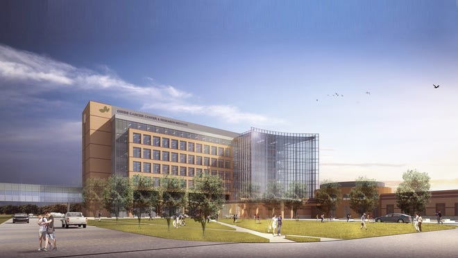 Architect's rendering of Spartanburg Regional's new cancer center in Greer