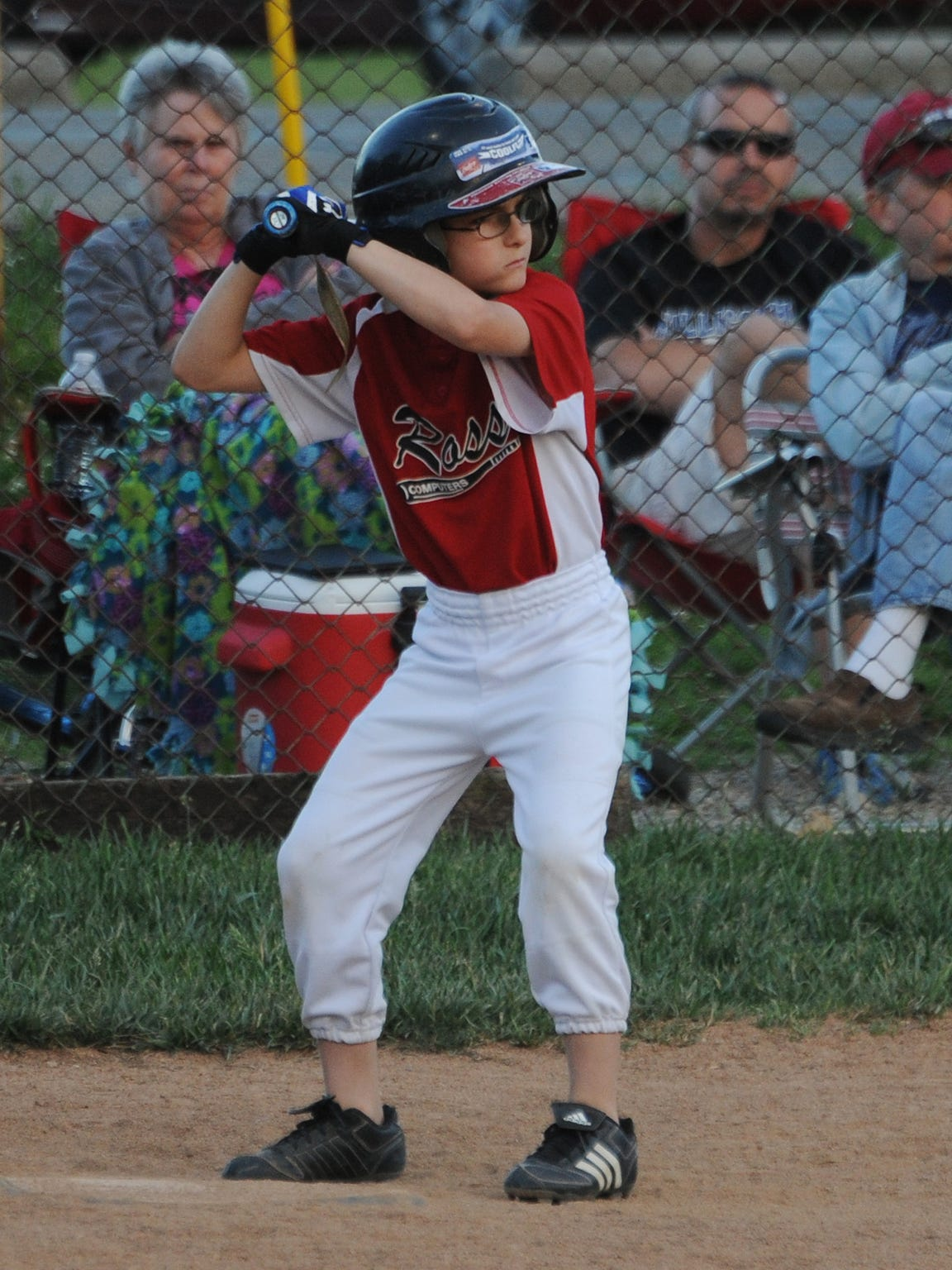 Chris Rutter goes up to bat during a game June 7 at