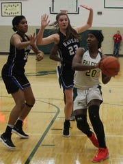 Senior standout Sha Carter (20) helped lead Groves past Royal Oak in a key OAA White Division showdown with 23 points, 10 rebounds, five steals, two blocks and one assist.