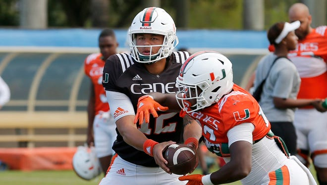 The Wisconsin defense will have its hands full trying to contain Miami quarterback Malik Rosier.