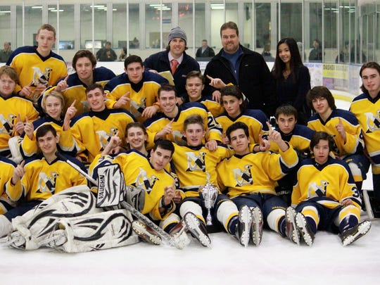 Toms River North celebrates its 2014 Mayor's Cup title.