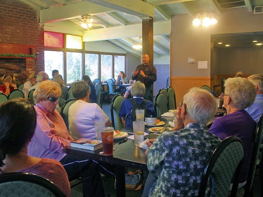 Otero County Sheriff Benny House was the guest speaker at the Otero County Tea Party Patriots monthly meeting Saturday.