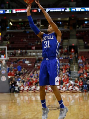 MaCio Teague, shown in a game this season against Ohio State, led UNC Asheville with 20 points Thursday.
