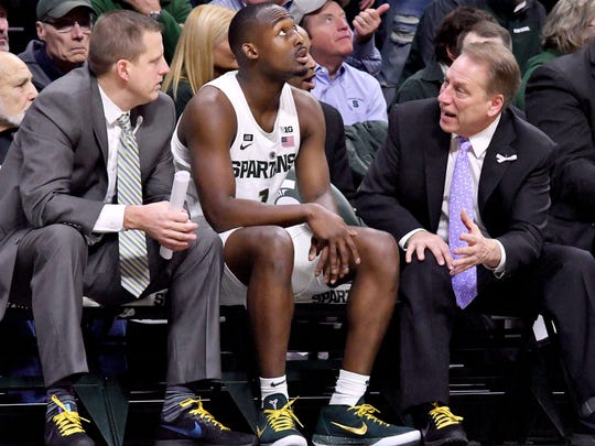 Dane Fife, left, joined Tom Izzo's staff at Michigan State in 2011, walking away from a head-coaching job at IPFW.