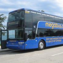 In Indianapolis, the Megabus pickup spot is at 200 E. Washington St.