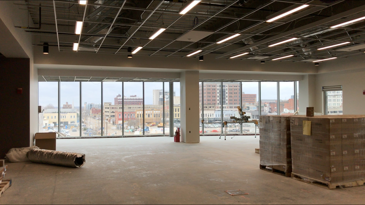 The Courier & Press was invited to tour construction progress of the Multi-Institutional Academic Health Science & Research Center in Downtown Evansville. Feb. 15, 2018.