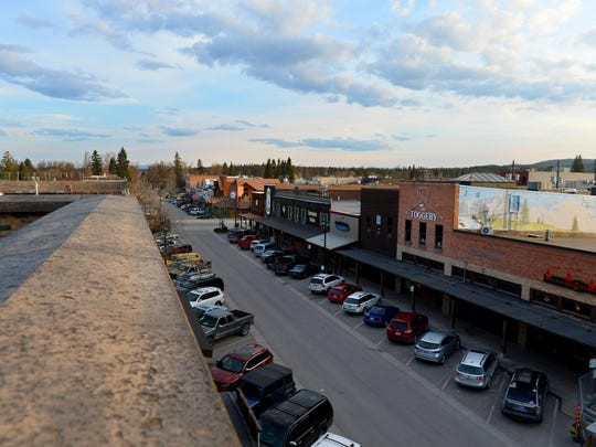 Downtown Whitefish on April 19, 2017.