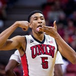UNLV forward Christian Wood (5) is moving up the NBA draft boards