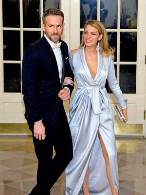 Ryan Reynolds and Blake Lively at the White House State Dinner in March.