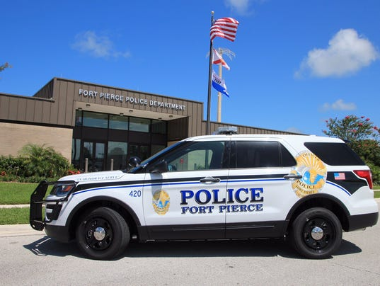 NOT FOR PRINT government crime accident Fort Pierce Police Department headquarters 0708-2016 from tweet