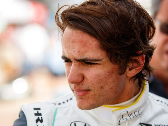IndyCar driver Pietro Fittipaldi during practice for