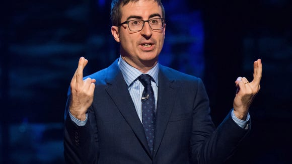 John Oliver bought five wax figures of former presidents.