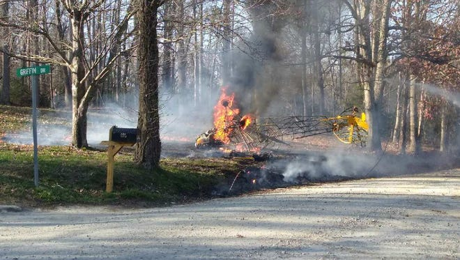A pilot crashed a small plane in Edneyville Thursday March 9, 2017. He survived the crash.