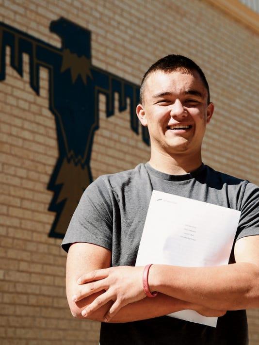 Gavin Huse of Coronado High School is the winner of the COBA Skov Essay competition.