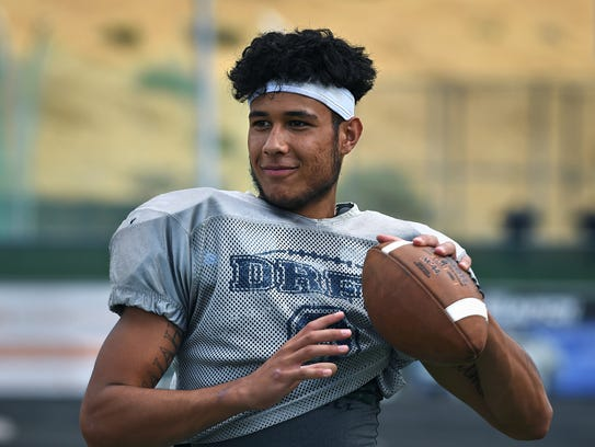 Damonte's Dru Jacobs throws the ball around during