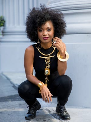 """Douriean Fletcher created the jewelry for """"Black Panther."""" Her main job was to create pieces that spoke to the styles and status of differing characters, from Angela Bassett's Queen Ramonda to Letitia Wright's tech-whiz Princess Shuri to Lupita Nyongo's super-spy Nakia."""