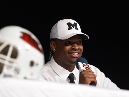 Here's a look at Michigan's 2017 football recruiting