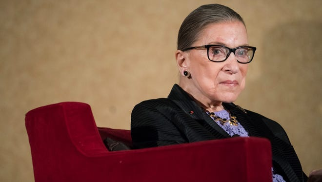 Supreme Court Justice  Ruth Bader Ginsburg, speaks during the keynote address or the State Bar of New Mexico's Annual Meeting in  Pojoaque, N.M.,Friday, Aug. 19, 2016.