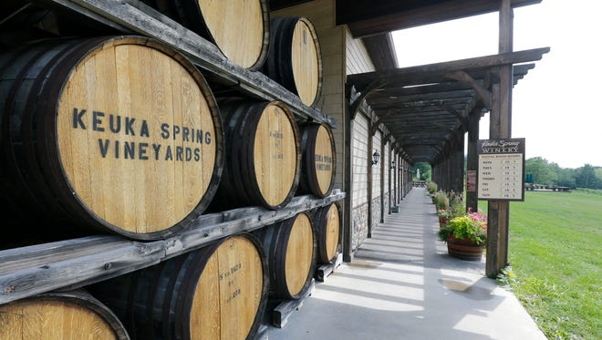 Keuka Spring Vineyards in the Finger Lakes region.