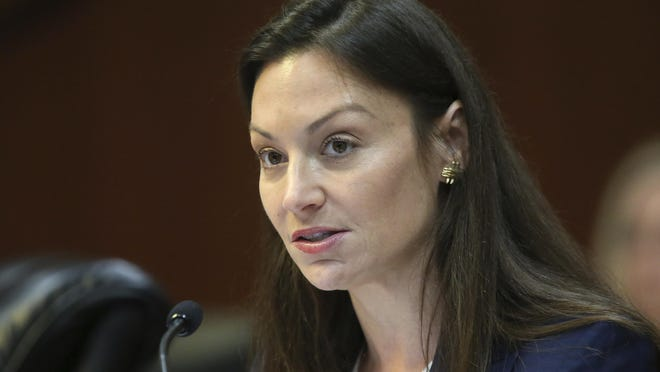 Commissioner of Agriculture Nikki Fried speaks during a meeting of the Florida cabinet in June.