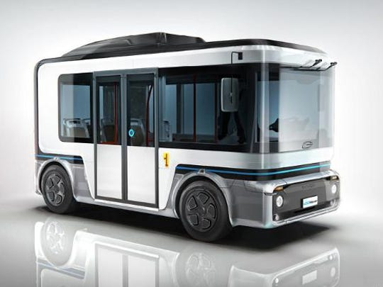 The e.GO Mover can comfortably accommodate 15 people as a fully electric minibus. At the same time, its footprint is no bigger than that of a large sedan.