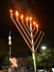 Sophia Abergel was one of the people chosen to light