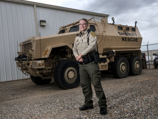 San Juan County Sheriff's Office Deputy Robyn Roe is an Army National Guard veteran who served two tours of Afghanistan.
