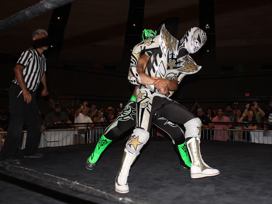 Live lucha libre will entertain attendees at the Tequila,