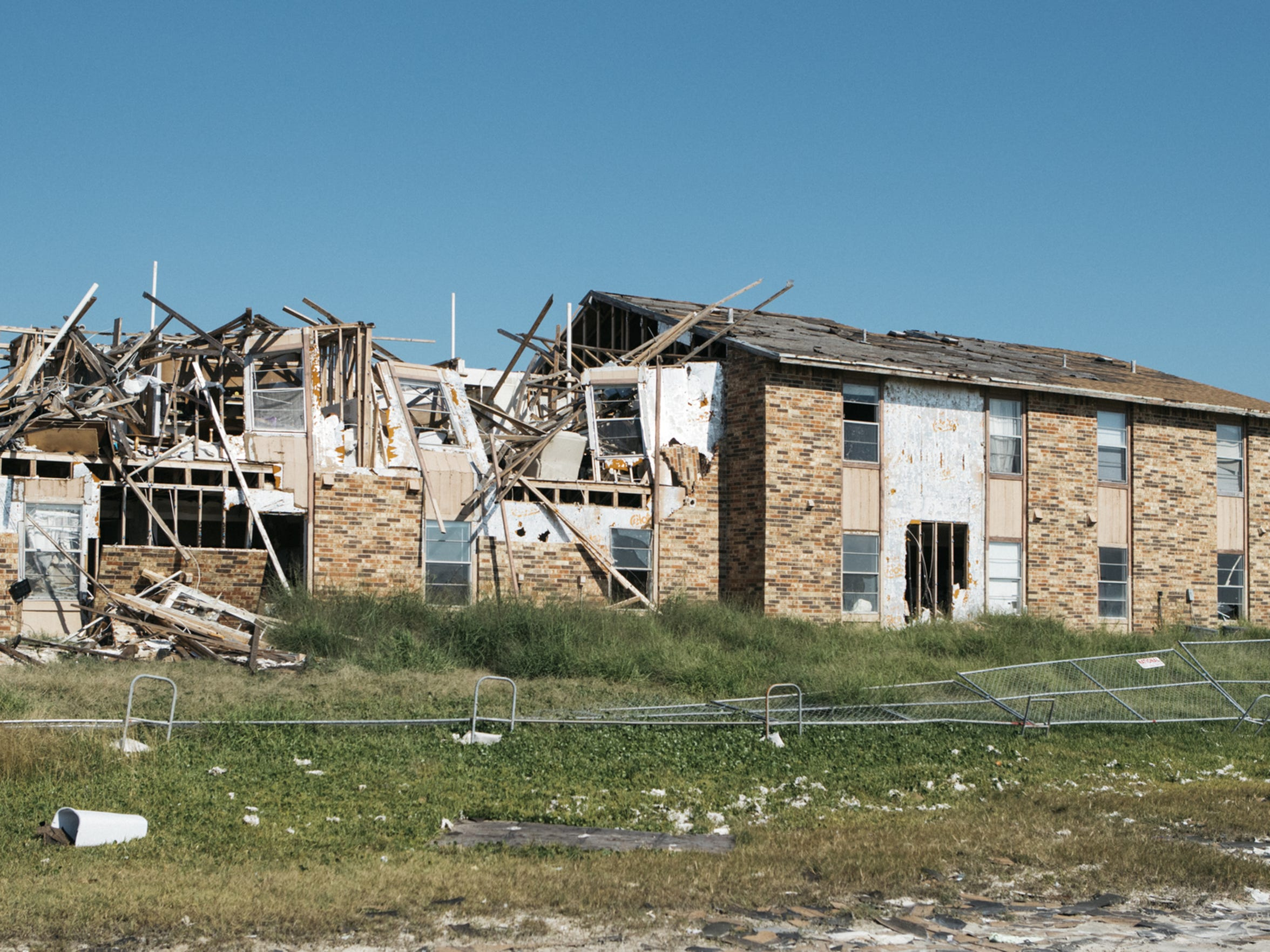 Destruction from Hurricane Harvey was widespread.