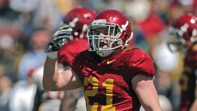Iowa State linebacker Luke Knott