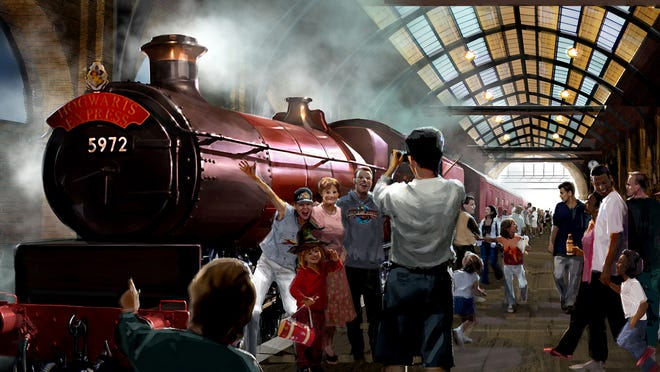 After exploring Diagon Alley, visitors can hop on the train at King's Cross Station and make their way to Hogsmeade.