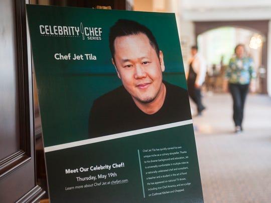 Celebrity chef Jet Tila visited The Evergreens retirement