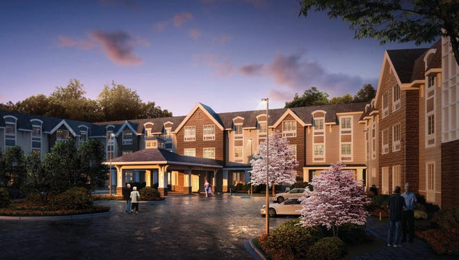 An artist rendering of The Ambassador of Scarsdale assisted living/memory care community.