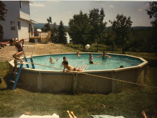 The backyard pool where Maureen and friends would spend their summer days.