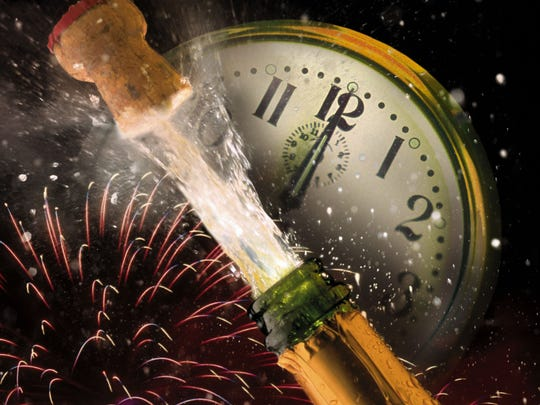 Be careful when popping open champagne on New Year's Eve, the cork could hit you in the eye.
