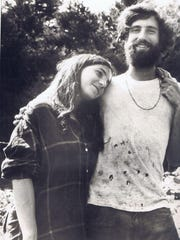 """Joey Klein (now of Plainfield), right, and Gusta Ronson were members of a """"hippie household"""" in the Pikes Falls section of Jamaica, Vermont, in 1969."""