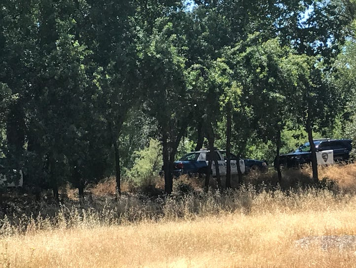 Redding police search the area around Turtle Bay for