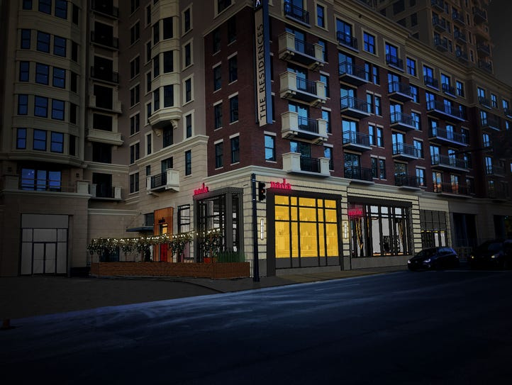 A rendering showing the Nada's space at Aertson Midtown.